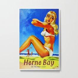 Vintage Herne Bay Kent England Travel Metal Print