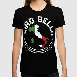 Ciao Bella Italy Flag print, Italian Tee graphic T-shirt