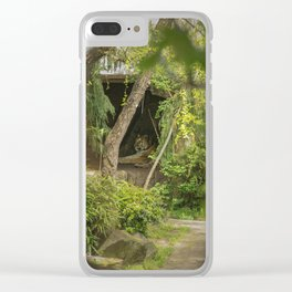 Caged Tiger Clear iPhone Case