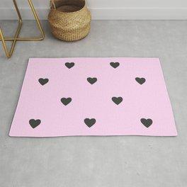 Pink Pastel Hearts Rug