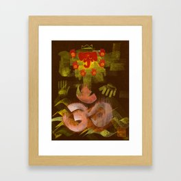 Sleeping Ganesh Framed Art Print