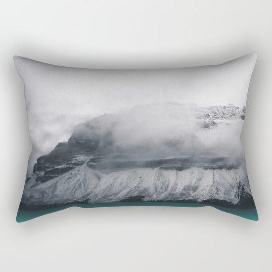 Dreary Mountain Rectangular Pillow