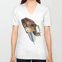 climbing V-neck T-shirts featuring Climbing by Lerson