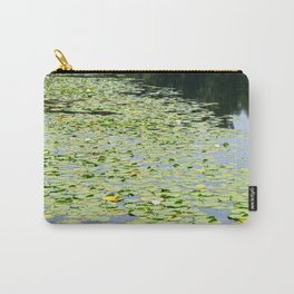 Lily Pads on the Water Surface of Grant Lake, Minnesota 2 Carry-All Pouch