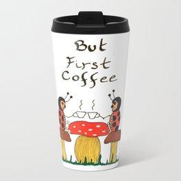 Coffe time ladybugs Metal Travel Mug