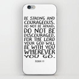 Bible Verse 1 Joshua 1:9 Christian Quote Typography Wall Art Printable Art Bible Verse Printable iPhone Skin