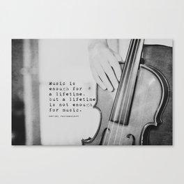 Music Quote Rachmaninov Canvas Print