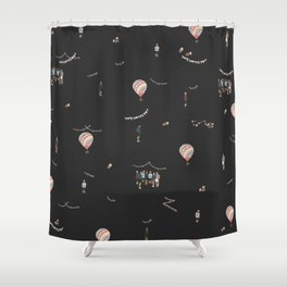 BTS Young Forever Pattern - Black Shower Curtain