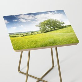Idyllic Cotswold Summer Landscape Side Table