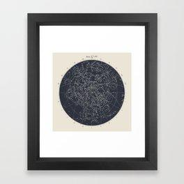 Map n XIV Framed Art Print