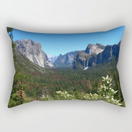 Bridal Veil Falls From Tunnel View Point - Yosemite Valley Rectangular Pillow