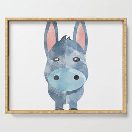 Water Colour Baby Donkey Serving Tray