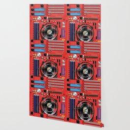 Computer Motherboard Electronics. Wallpaper