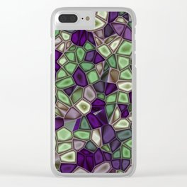Fractal Gems 02 - Purples and Greens Clear iPhone Case