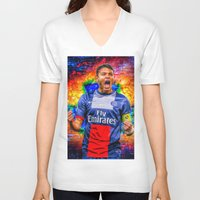 captain silva V-neck T-shirts featuring Thiago Silva by Cr7izbest