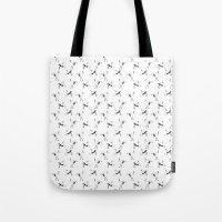 crane Tote Bags featuring Crane by Jiaxi Huang