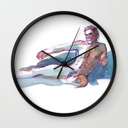 ADAM, Nude Male by Frank-Joseph Wall Clock