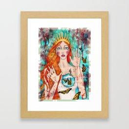 Butterflies Queen Framed Art Print