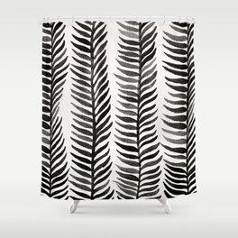 Black Seaweed Shower Curtain