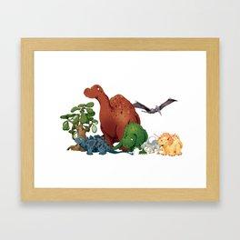 Dinosaur Party Framed Art Print