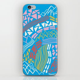 cascade, abstract terrain iPhone Skin