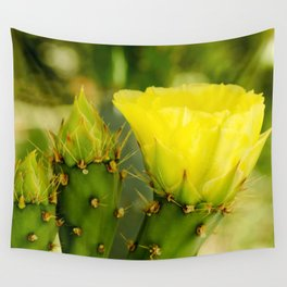 Englemann's Prickly Pear Bud to Bloom Wall Tapestry