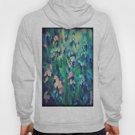 Pink And Blue Forget-Me-Nots Hoody