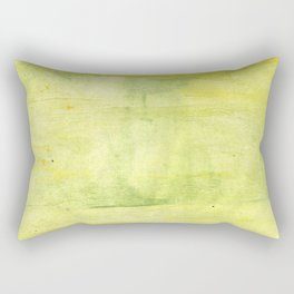 Yellow green watercolor Rectangular Pillow