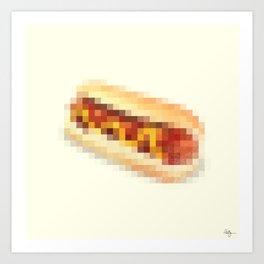 Censored Hot Dog Art Print