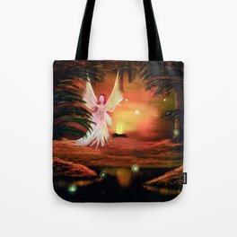 Wings to a flame Tote Bag