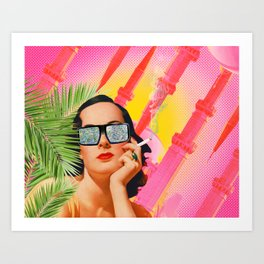 Babe Over Beirut  Art Print