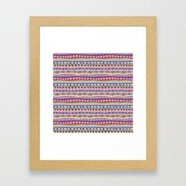 Stripey-Coolio Colors Framed Art Print