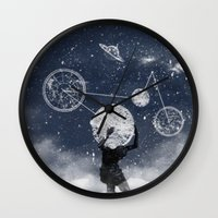 atlas Wall Clocks featuring Atlas by Slug Draws