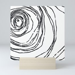 Minimal Topography Mini Art Print