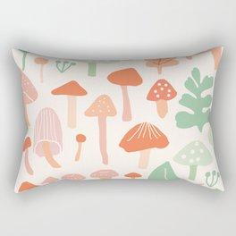 Mushroom forest walk Rectangular Pillow