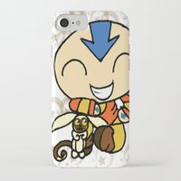 aang iPhone & iPod Cases featuring PowerPuff Aang by auroranq