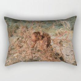 Brown Seahorse Rectangular Pillow