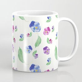 Summer Pansy Apple Leaf Pattern Coffee Mug