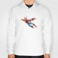 spider man Hoodies featuring Spider-Man by Nicola Girello