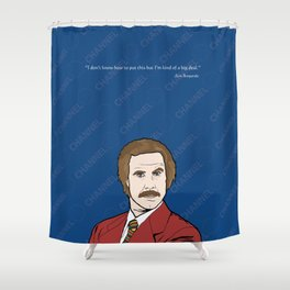 Ron Burgundy Anchorman  Shower Curtain