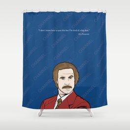 Ron Burgundy Anchorman  Shower Curtain