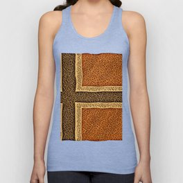 Norway Flag Wood Piece Manufactured Grooves Table Baltic Unisex Tank Top