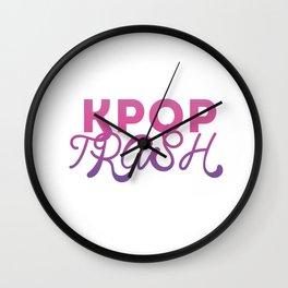 kpop trash Wall Clock