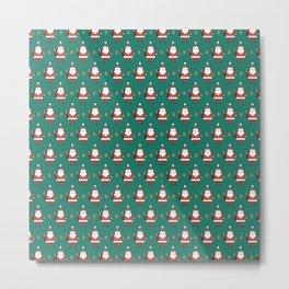 Day 10/25 Advent - Folding Santa Metal Print