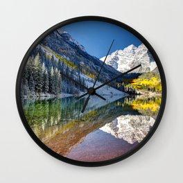 Maroon Bells Colorado Wall Clock
