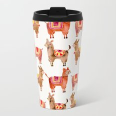 Alpacas Metal Travel Mug