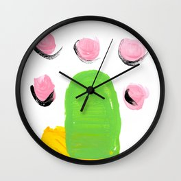 Bright abstract popsicle 2 Wall Clock