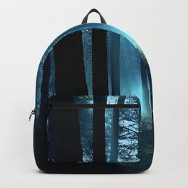 Haunted forest- winter mist in forest Backpack