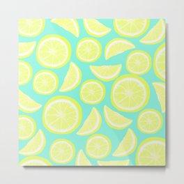 Lemon Citrus Metal Print