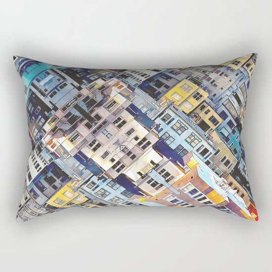 Apartments In The City Rectangular Pillow